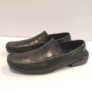 Bruno Magli Carlos Men's Black Penny Loafer Shoes